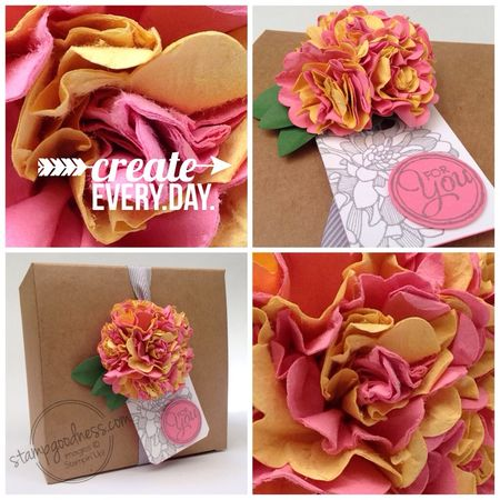 Stampin' Up! Regarding Dahlias Chalk Talk