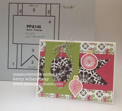 PPA 145 Ornament Keepsakes Card